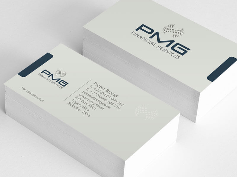 PMG Matt Laminated Spot U.V. Business Cards