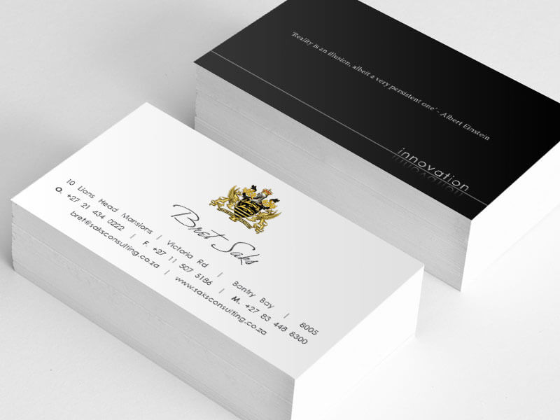 Bret Saks - Embossed Business Cards